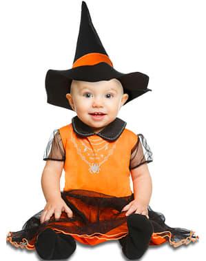Kostium dyniowa czarownica dla niemowląt