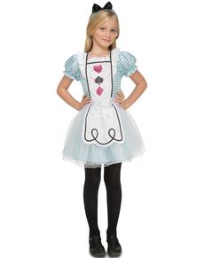 Alice im Wunderland Kostüm für Mädchen Deluxe
