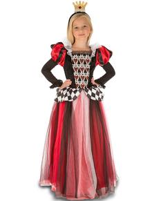 Hartenkoningin kostuum sierlijk voor meisjes