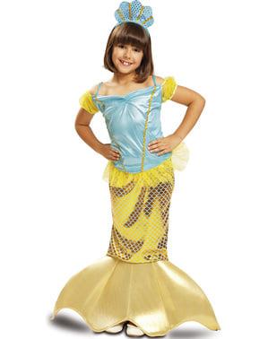 Fato de sereia amarela dos mares para menina