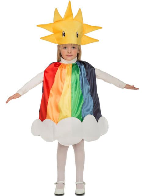 Disfraz de arcoiris soleado infantil
