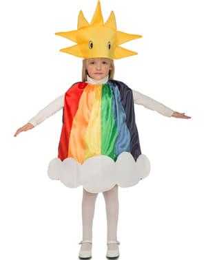 Fato de arco-íris solarengo infantil