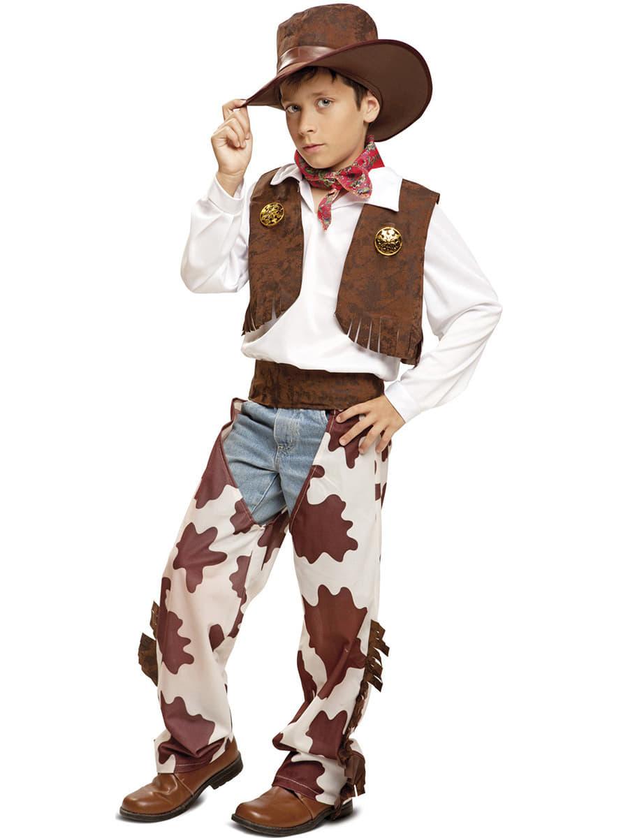 d guisement cowboy peau de vache gar on livraison 24h funidelia. Black Bedroom Furniture Sets. Home Design Ideas