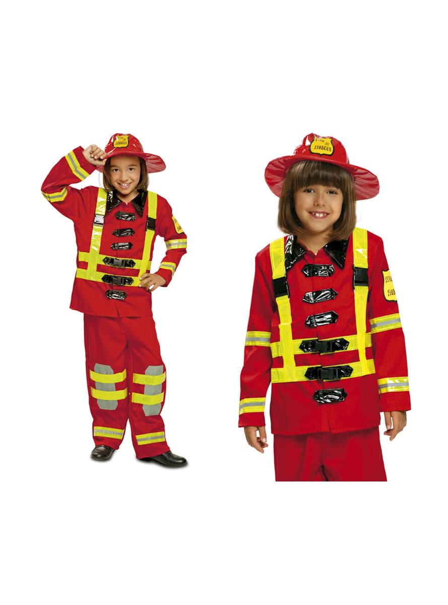 d guisement pompier courageux enfant livraison 24h funidelia. Black Bedroom Furniture Sets. Home Design Ideas