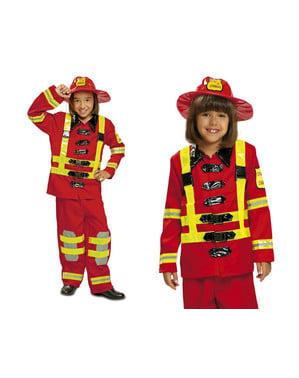 Disfarce de bombeiro infantil