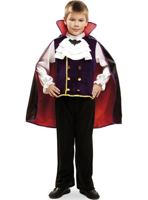 Fato de vampiro noturno para menino