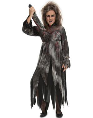 Disfraz de fantasma asesina para niña
