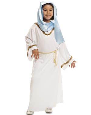 Fato de Virgem Maria de Presépio para menina