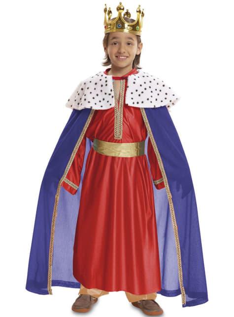 Disfraz de Rey Mago rojo para niño