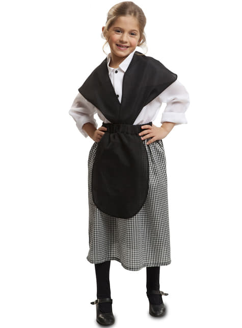 Costume da pastorella del presepe per bambina. Consegna 24h
