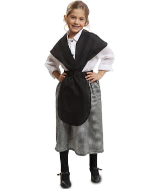 Kastanje verkoper kostuum voor meisjes