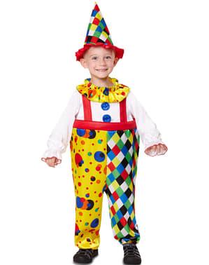 Maskeraddräkt clown flerfärgad för barn
