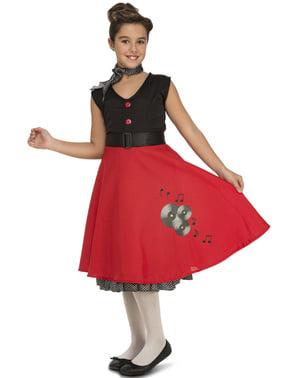 Fato de rapariga dos anos 50 elegante para menina