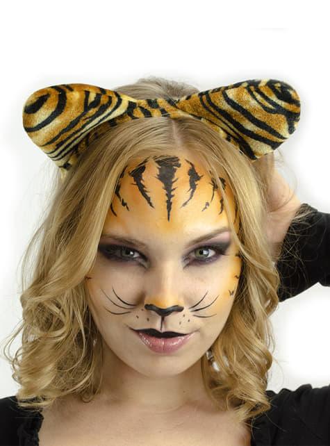 Bandolete com orelhas de tigre para mulher