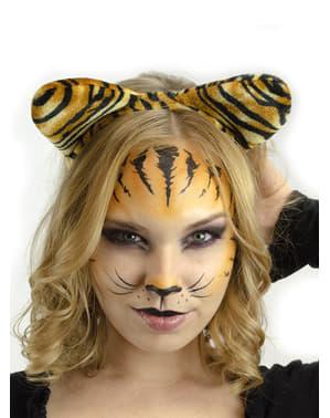 Serre-tête avec oreilles de tigre femme