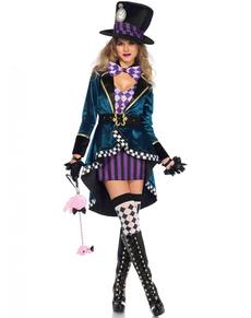 Ekstra Stor Hattemaker Kostyme for Dame