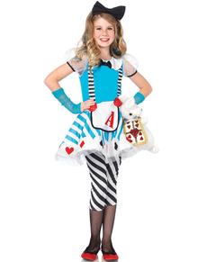 Fato de Alice maravilhosa para menina
