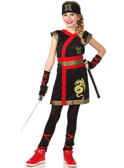 Fato de guerreira ninja para menina