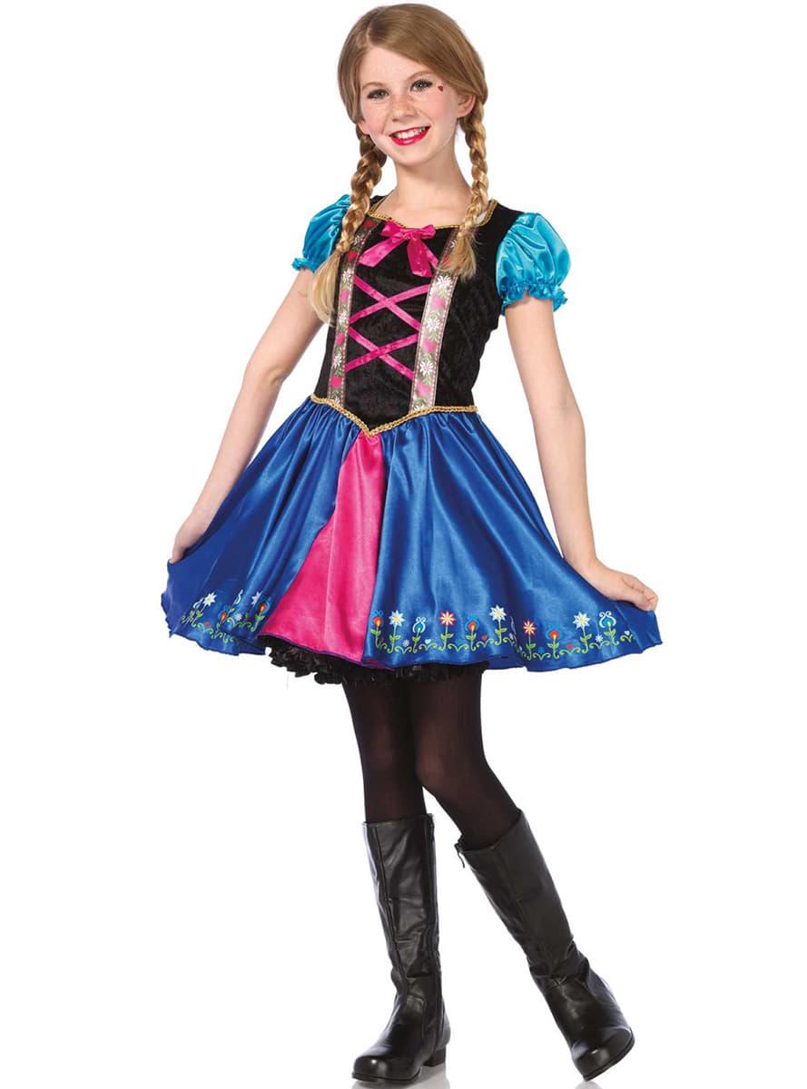 D guisement princesse anna fille funidelia - Deguisement fille princesse ...