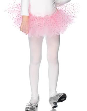 Tyllkjol med prickar rosa för barn
