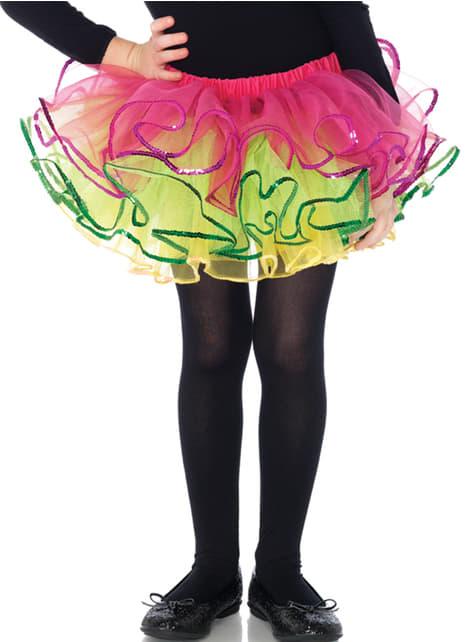 Tutú de bailarina multicolor para niña