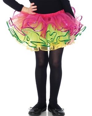 Ballerinakjol i tyll flerfärgad för barn