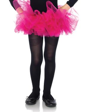 Ballerinakjol i tyll rosa neon för barn
