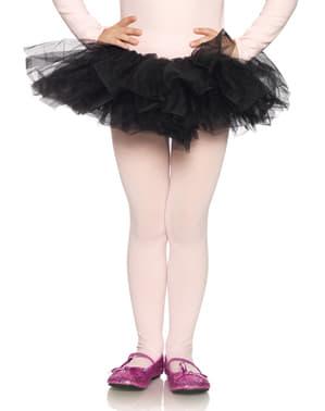 Ballerinakjol i tyll svart för barn