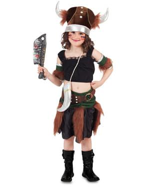 תלבושות ויקינג האלגנטיות של הילדה