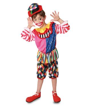Fato de palhaço de circo coquete para menino