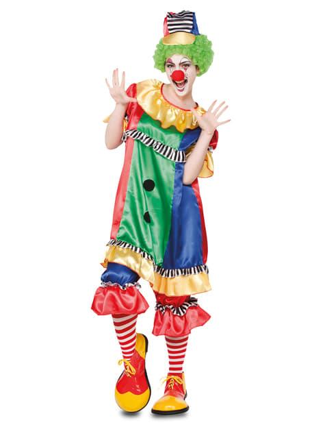 Disfraz de payasa de circo coqueta para mujer