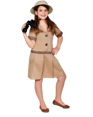 Safari Utforsker Kostyme for Jente