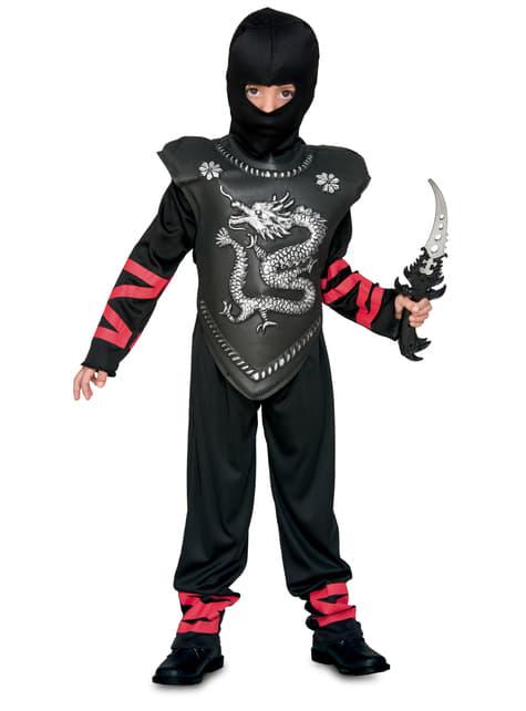 Fato de Ninja das trevas para menino