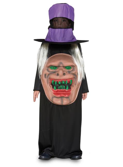 Disfraz de bruja con sombrero infantil