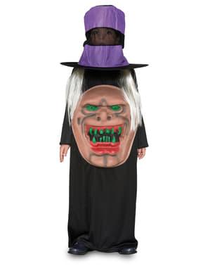 Maskeraddräkt häxa med hatt för barn