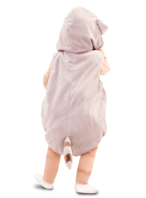 Disfraz de mapache enternecedor para bebé