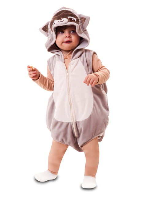 Disfraz de mapache enternecedor para bebé - bebe