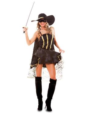 Gemaskerd bandiet kostuum voor vrouw