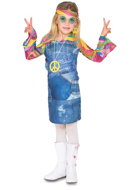 Fato de hippie azul para menina