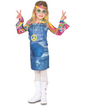 Mergaitės hipių kostiumas