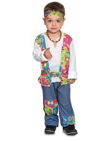 Disfraz de hippie festivalero para bebé