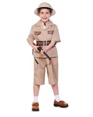 Déguisement exploratrice safari garçon