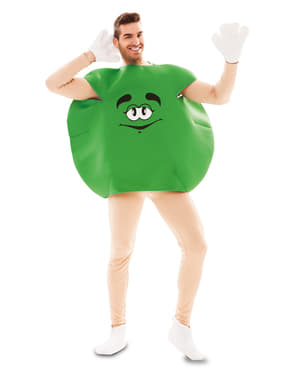 Costume da caramella verde per adulto