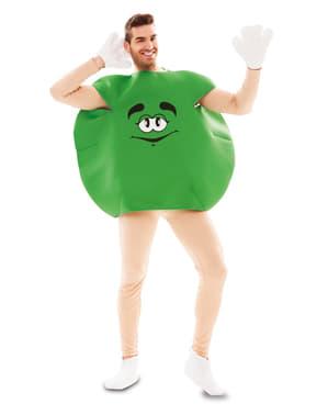 Fato de caramelo verde para adulto