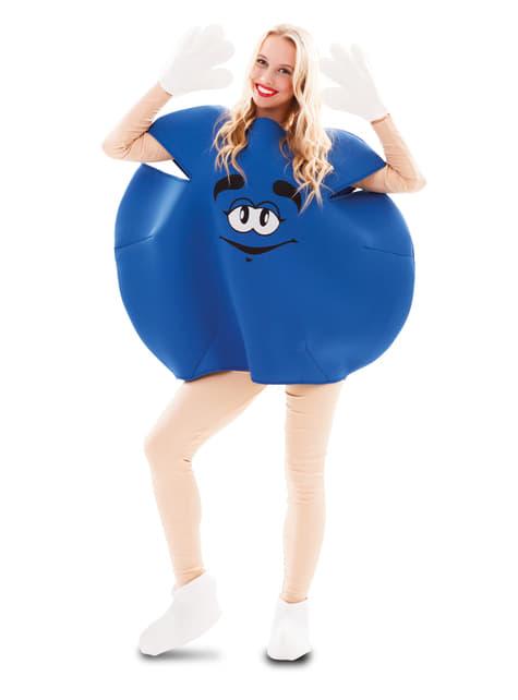 Fato de caramelo azul para adulto