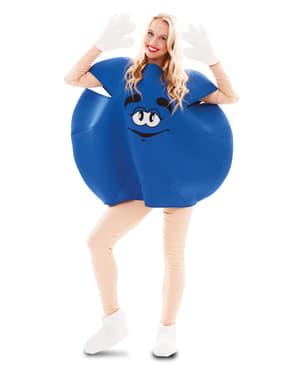 Blauw snoepkostuum voor volwassenen