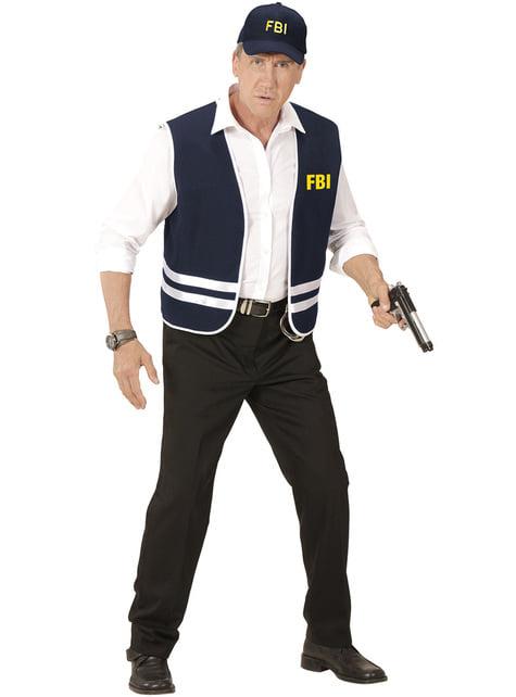 Costume per Adulti Poliziotto fbi XL