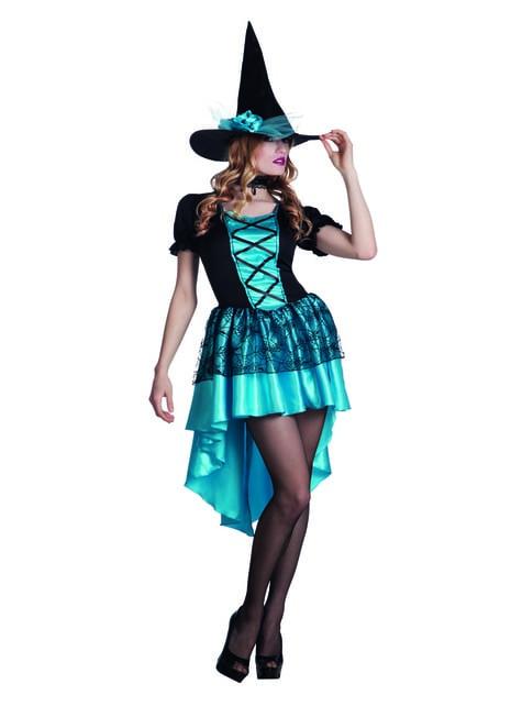 Disfraz de bruja de las tinieblas para mujer