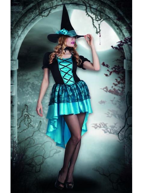Disfraz de bruja de las tinieblas para mujer - original