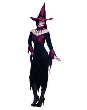 Gruseliges Hexen Kostüm für Damen